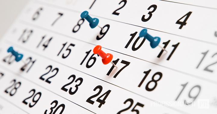 Cronograma de apresentação dos planos de negócio