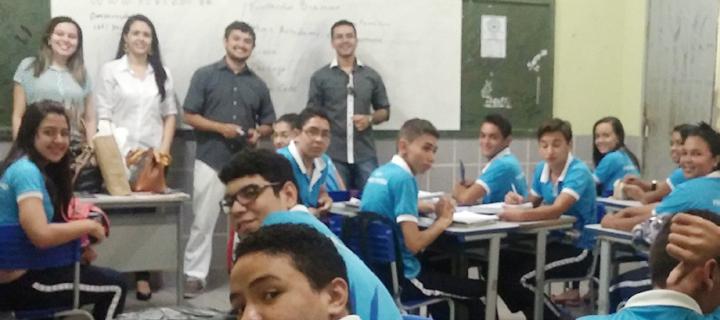 Escola Franklin Távora, em Itapiúna, recebe visita de coordenadores da Católica de Quixadá