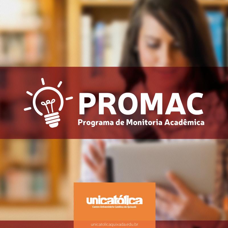 Programa de Monitoria Acadêmica (PROMAC) – Resultado Final do 2º Processo Seletivo