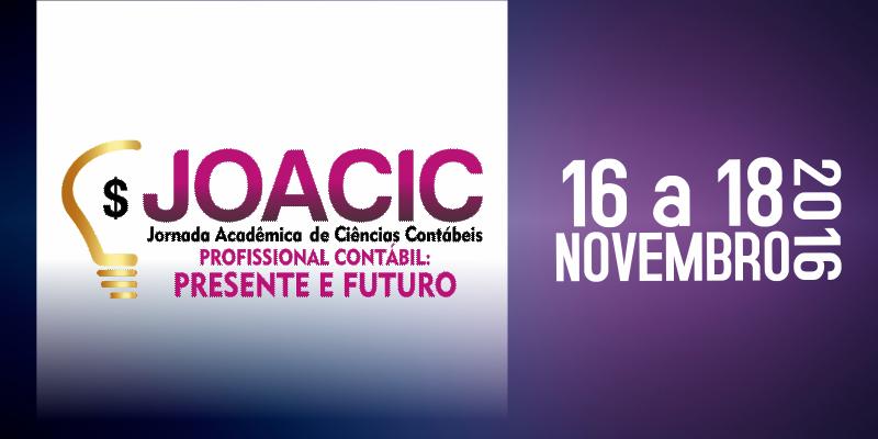JOACIC – Jornada Acadêmica de Ciências Contábeis