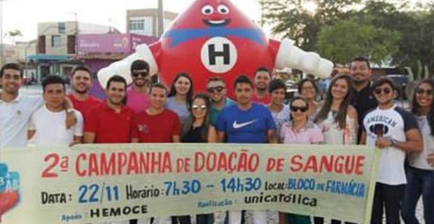 II Campanha de Doação de Sangue na UniCatólica: um recorde de Doações! 158 Bolsas doadas!