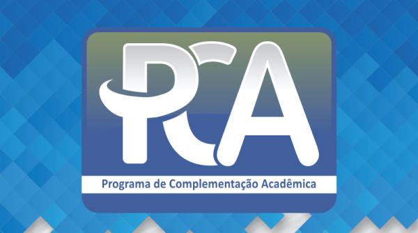 Inscrições para o Programa de Complementação Acadêmica (PCA).